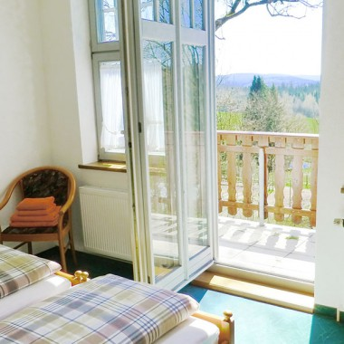 Doppelzimmer mit Balkon | Hotel Landgut Aschenhof