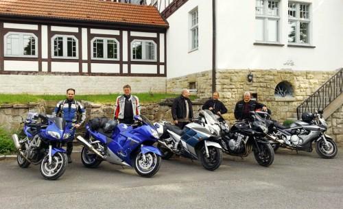 Motorradfahrer zu Gast im Hotel Landgut Aschenhof